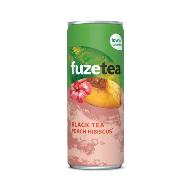 Fuze Tea black tea peach hibiscus blik